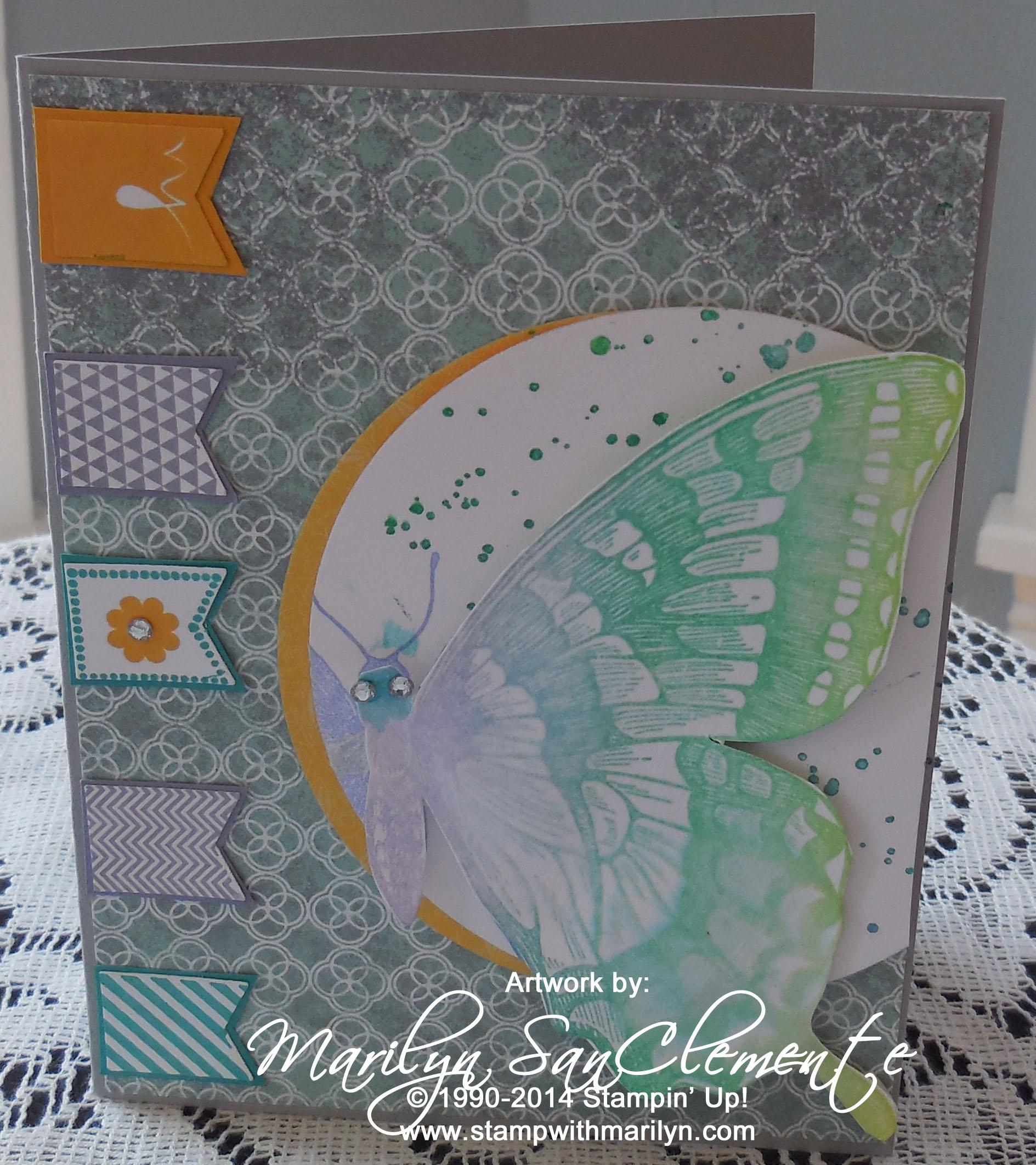 Swallowtail card