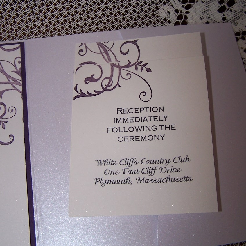 Reception and Response cards for Pocket invitation.