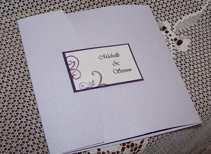 Seal for white pocket invitation