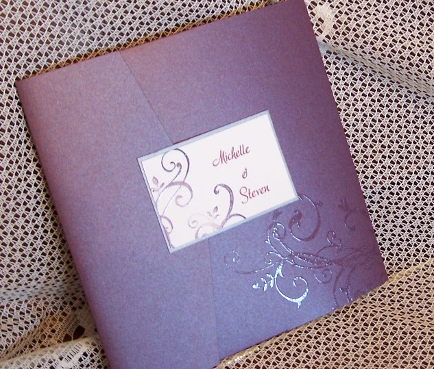 Outside of Ruby pocket invitation
