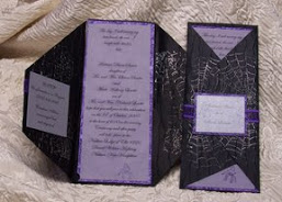 Handmade Halloween Wedding invitation