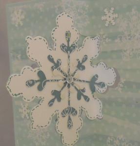 DSCN0440cu 287x300 Snowflake Flip Card