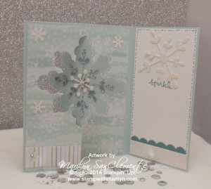 Snowflake Flip card