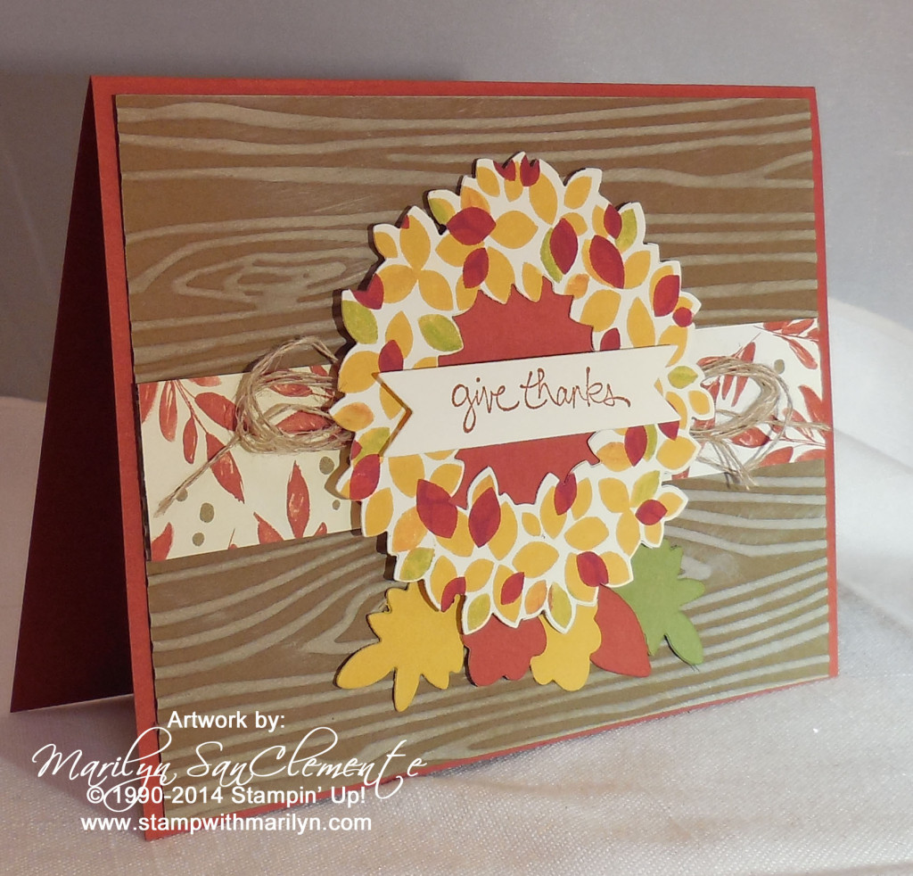 Fall Wonderous Wreath card