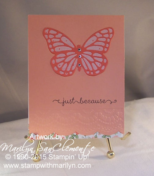 Stampin' Up! Butterfly card
