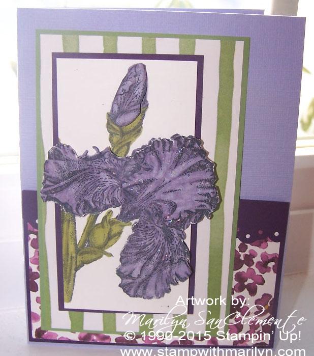handmade Iris card