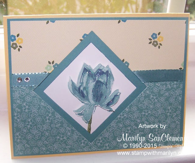 lotus blossom card
