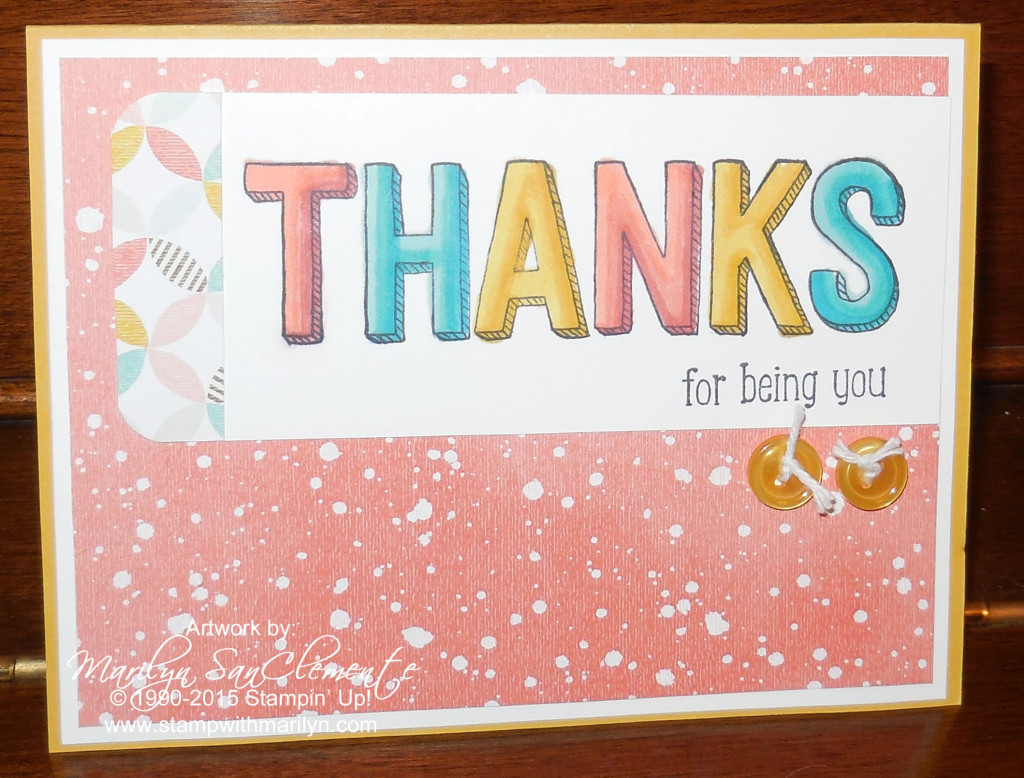 Quick & Easy Thank you card