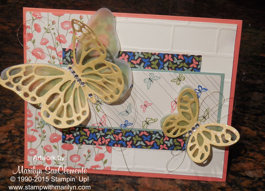 Watercolor Wings card