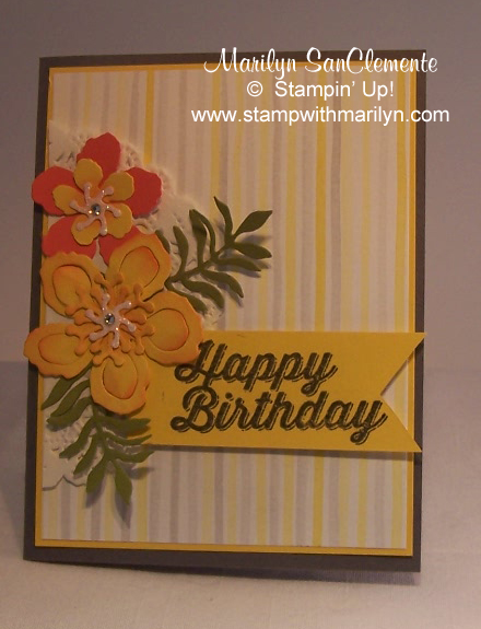 Botanical Blooms Birthday card
