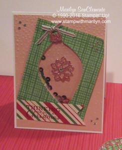 shaker ornament Christmas card