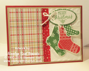 hang your stocking card