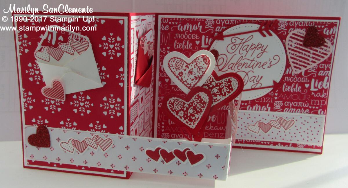 Valentine's Z Fold Card