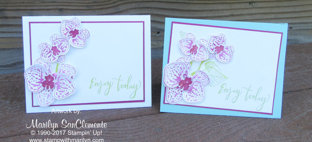 handmade orchid card