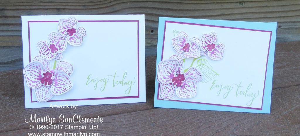 handmade orchid card