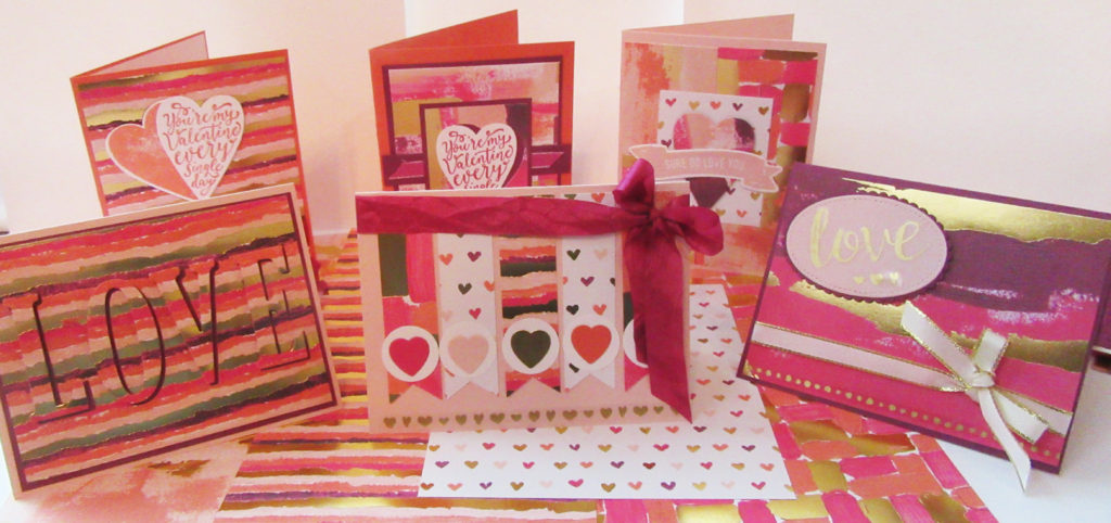 Painted with Love Valentines card ideas