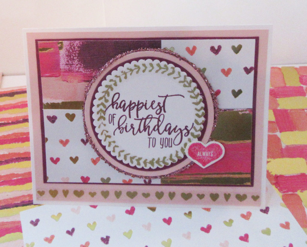 Painted with Love Birthday card