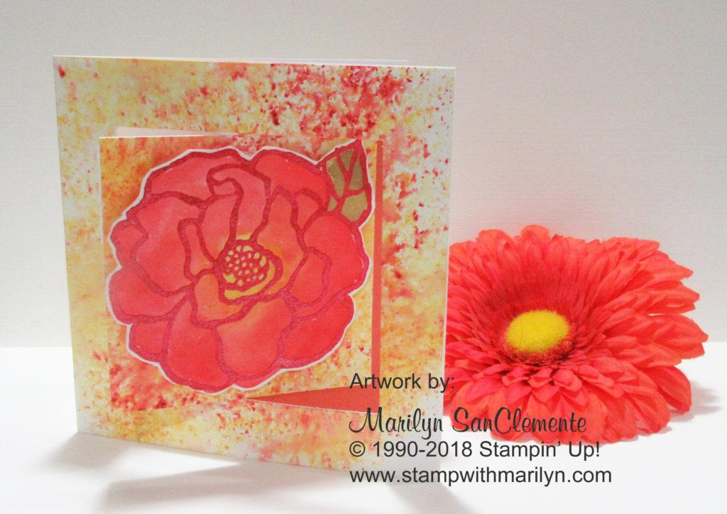 Brusho Fancy Fold Card