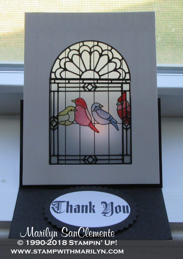 Graceful Glass Easel Card