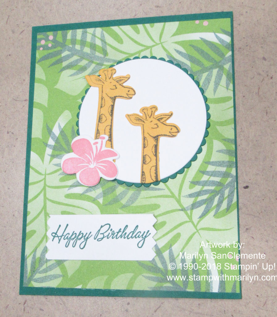 Animal Outing Handmade card