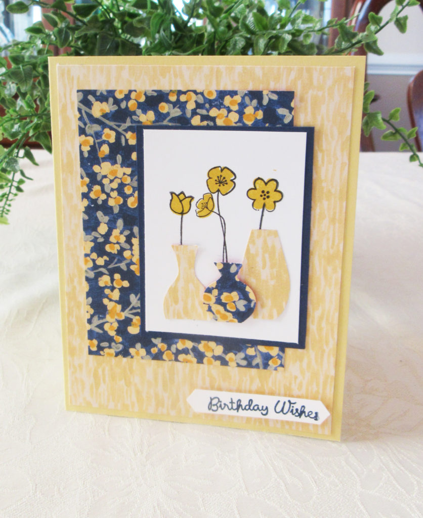 handmade varied vases card