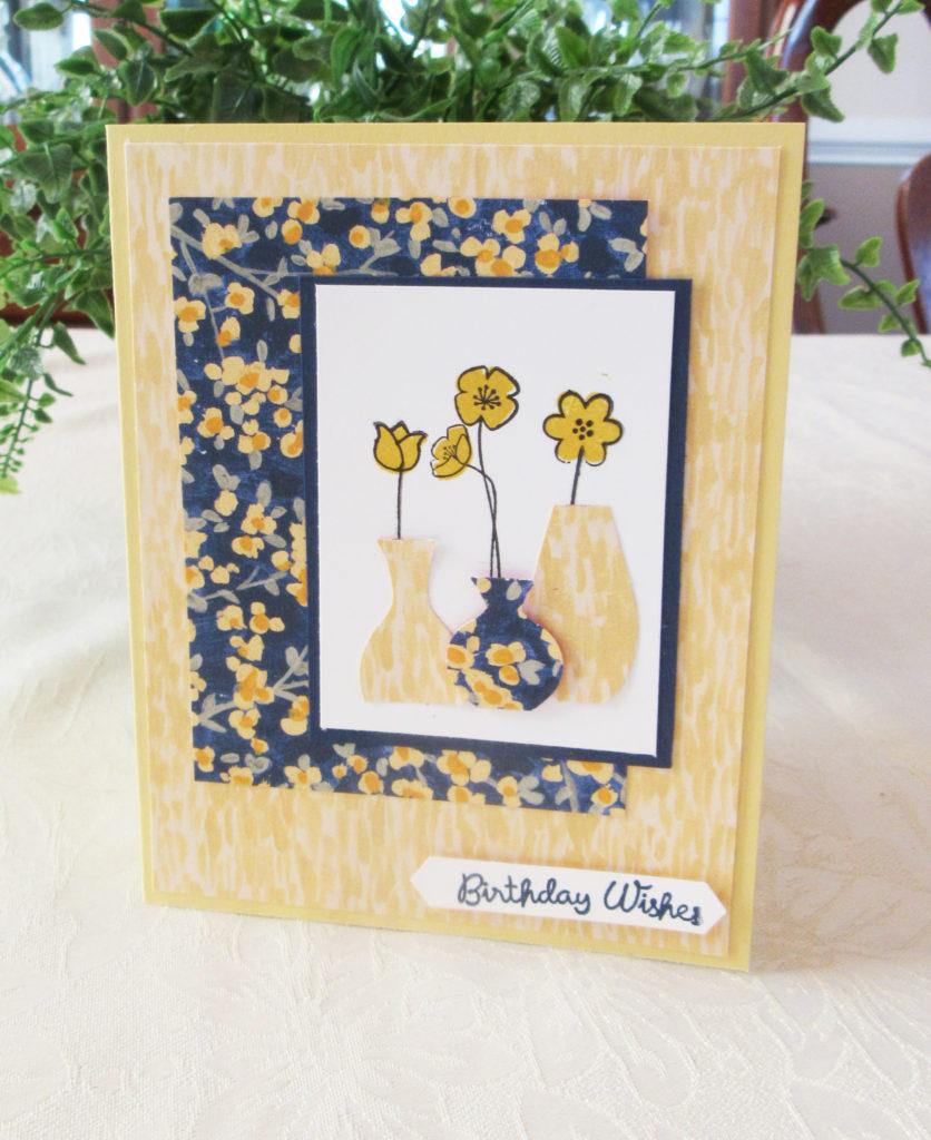handmade varied vases card