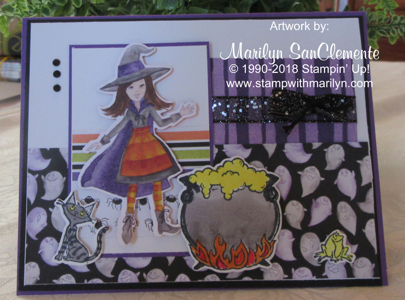 Cauldron Bubble Witch card