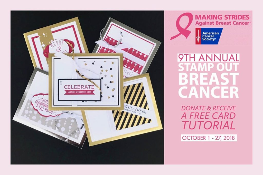 It\'s Time to help Stamp Out Breast Cancer - Stamp with Marilyn