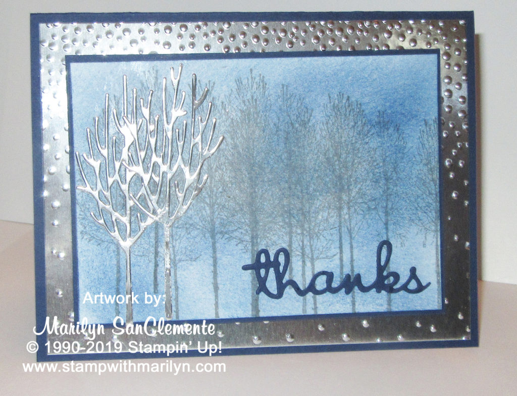 Winter Woods Thank you card