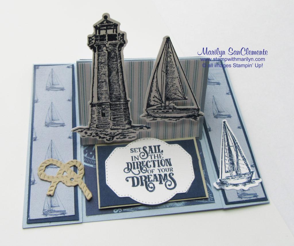 Sail Away Easel Card
