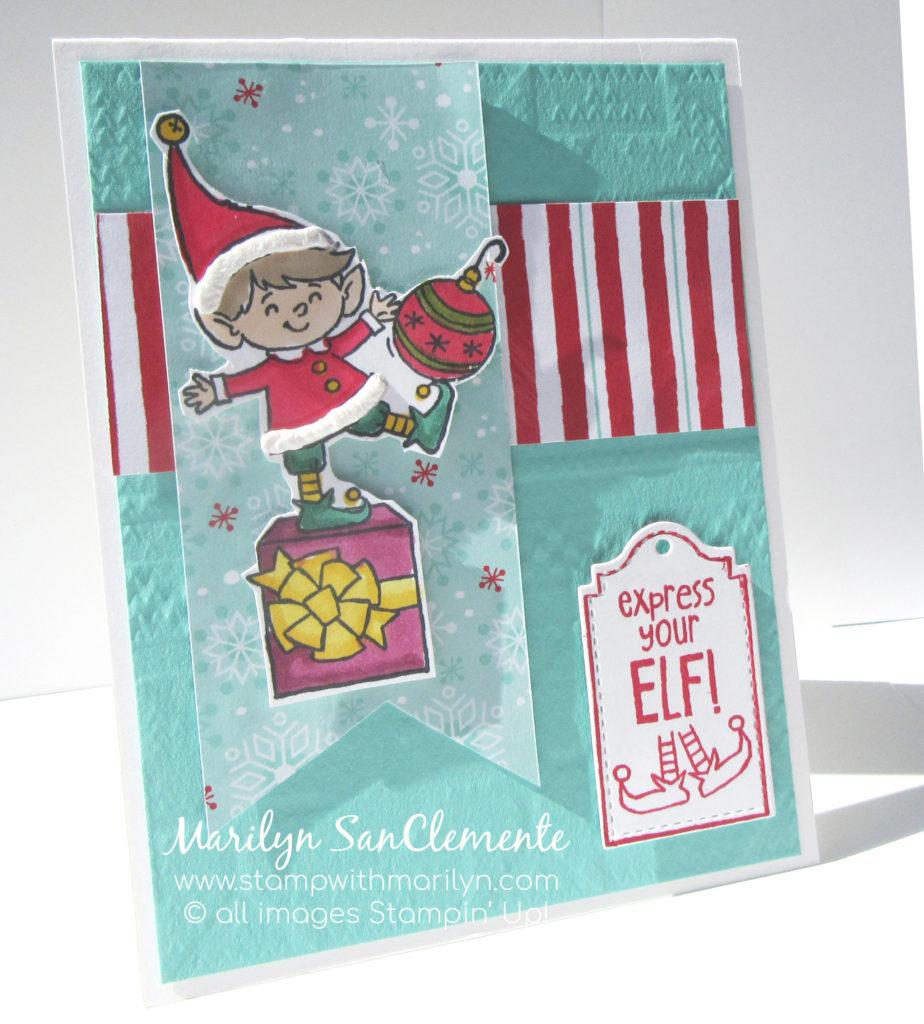 Cute Elfie Holiday card