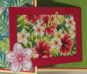 Tropical Oasis Fun Fold Card