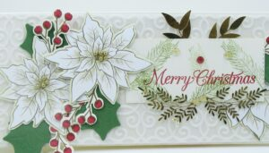 Poinsettia place slimline card