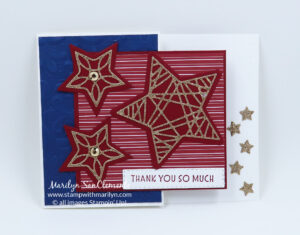 Tidings and Trimmings Flag Card