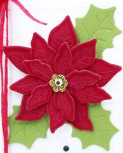 Velvet Poinsettia Cards